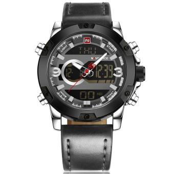 NaviForce 9097 Men's Sport Leather Wrist Quartz Watch - intl