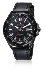 Naviforce Double Movement Stainless Steel LED Quart Watch 9056 (Black)
