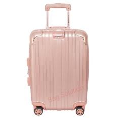 Navy Club Tas Koper Hardcase Fiber PC - 4 Roda - Resleting Anti Tusuk Expandable - Kunci TSA - 3869 Size 20 Inch - Rose Pink