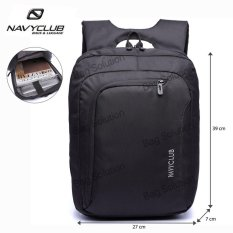 Navy Club Tas Ransel Laptop Tahan Air 5850 Backpack Up to 15 inch - Hitam