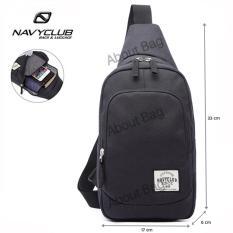 Navy Club Tas Selempang Travel - Tas Punggung Tahan Air - Sling Bag 5518 - Hitam