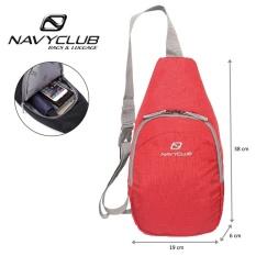 Navy Club Tas Selempang Travel - Tas Punggung Tahan Air - Sling Bag  5548 - Merah
