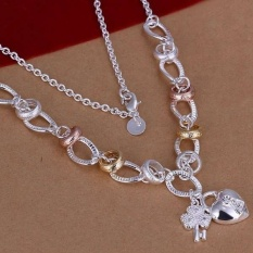 Necklace 925 Silver Trendy Jewelry Necklace Heart & Key Jewelry Wholesale Christmas Valentine's Day Gifts - Intl