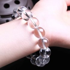 Need Genuine Natural White Crystal Beads Bracelet Ms. Male Models Crystal Bracelets Jewelry Accessories -16mm Domineering Male Models (Intl)