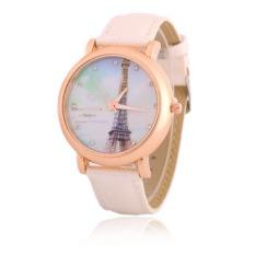 New Design Women Rhinestone Watches Luxury Crystal The Tower Watch Fashion Quartz Wristwatches (White)