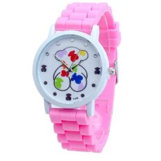New Fashion Bear Designer Ladies Sports Brand Silicone Watch Jelly Watch For Women Relojes Mujer (Intl)