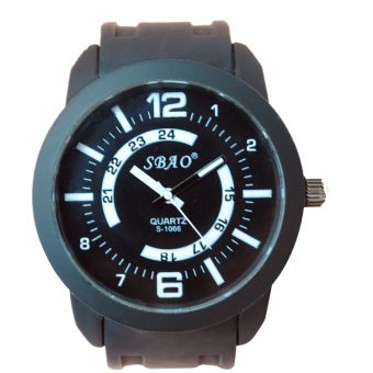 2016 New Fashion Lovers Watch PU Wristband Quartz Watch Sports Watch S-1066 -black