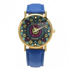 New Fashion Women Casual Retro Style Wristwatch Alloy Elegant Quartz Watch (Blue)