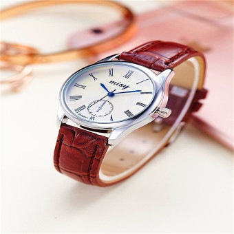 New Korea Style High-end Leather Band Couples Watch