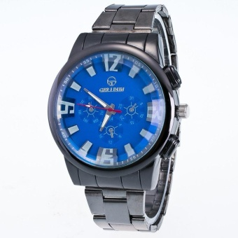 New Men Motion Form Stainless Steel Sport Quartz Hour Wrist Analog Watch BU - intl