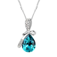 New Swarovski Elements Necklace Man Tingfang High - Grade Crystal Jewelry Jewelry - Color Blue 11103