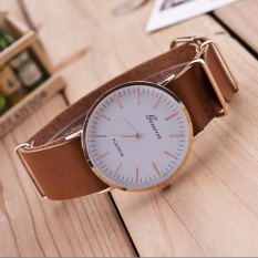 New Ultra-thin Leather Belt Geneva Classic Simple Scale Men Watches KH - intl