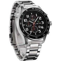 New WEIDE WH3308 Men's Sports Waterproof Stainless Steel Strap Quartz Watch (Black) (Intl)