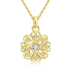 NHT3HT-AHigh Quality Zircon Necklace Fashion Jewelry 18K Gold Plating Necklace - Intl