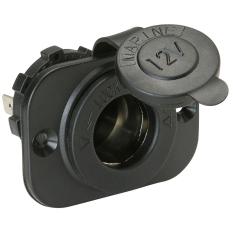 NiceEshop Marine Motorcycle Car Cigarette Lighter Socket Power Outlet (Black) (Intl)