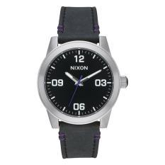 NIXON G.I. Leather Black Jam Tangan Pria A933000 - Leather - Black