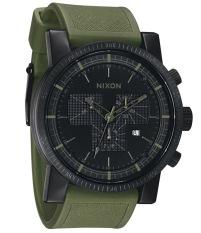 Nixon Male Black Dial & Surplus Strap A079-1042