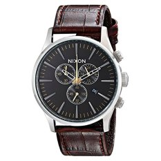 Nixon Men's A4051887 Sentry Stainless Steel Watch With Brown Leather Band (Intl)