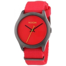 nixon mens quartz black ionplated stainless steel and nylon casual watch color
