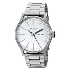 Nixon Watch Silver Stainless-Steel Case Stainless-Steel Bracelet Mens NWT + Warranty A356130
