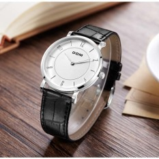 Nonof Men And Women Couples Quartz Watch Table Gold Shell White Disc's DOM (DOM) Watch The Men's Lightweight Business Simple Watch Fashion Leisure Waterproof Belt Tab (1 X Men Watch)