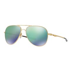 Oakley Sunglasses Elmont M & L Oo4119 - Satin Gold (411903) Size 60 Jade Iridium