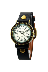 OEM 524 Women's Watches Classic Number Leather Band (Black)