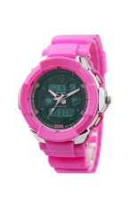 OEM 731 Unisex Mens Wrist Watches Sport Watches Plastic Band LED (Pink)