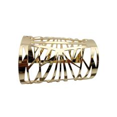 OEM New HOT Gold Tone Golden Alloy Hollow Out Wide Bangle Bracelet Adjustable