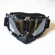 Off-road Motorcycle Dust and Windproof Goggles Can Wear Glasses Off the Wild Helmet Ski Goggles - intl