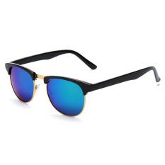 OH Women Men Cat Eye Retro Vintage Half Frame Metal Sunglasses Eye Glasses Black & Green (Intl)