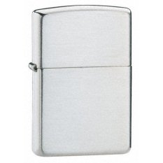 OHOME Zippo Korek Api Anti Angin Brushed Metal - TOX - Silver