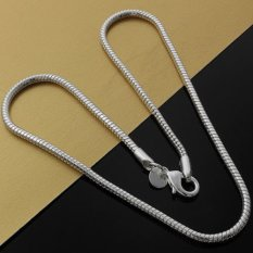 Okdeals 925 Silver Plated 3mm Snake Chain Necklace 18? (Intl)