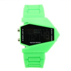 Okdeals Fashion LED Multifunction Electronic Sports Watches Men's Boy's Watch Green (Intl)