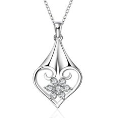 Okdeals Sterling Silver Plated Pendant Necklace Chain Jewelry Silver