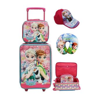 Onlan Set Koper Lunch Bag Anak Dan + Topi Cantik New Arrival - Pink