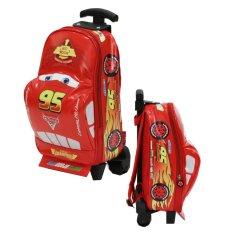 Onlan Tas Trolley Anak Sekolah Play Group Bentuk Mobil Racing - Red