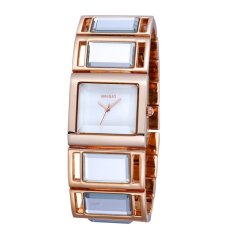 2015 WEIQIN Women's Fashion Designer Brand Luxury Watches Women Dress Square Dial Quartz Watch Casual Wristwatches Reloj Mujer (Gold White) (Intl)