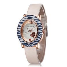 JIANGYUYAN 2015 Wholesale Women Watches Leather Strap Watch Fashion Casual Ladies Wristwatch Free Shipping (White) (Intl)