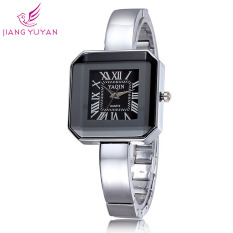 JIANGYUYAN Hot Sale Brand Watch Women Dress Watches Fashion Casual Quartz Watches (Silver Black Withbox) (Intl)