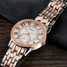 Ooplm OCHSTIN Swiss Brand Counters Miss Shi Yingbiao Small Second Hand Diamond Fashion Waterproof Steel Band Luxury Watches (Rose Gold)