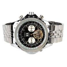 ORKINA KC082-B Men's Stainless Steel Self-Winding Mechanical Wrist Watch W / Calendar (Silver)