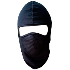 Ormano Masker Motor Biker Ninja Pelindung Kepala Mulut Muka Wajah Mask Helm Anti Polusi Asap Motorcycle Touring Menyerap Keringat Full Face Bahan Elastis Nyaman Stylish - Hitam