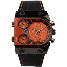 OULM Brand Men Sport Watches Quartz Leather Military Watch (Intl)