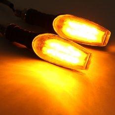 Pasangan Amber LED Lampu Indikator Lampu Sein Motor Universal 12 V .
