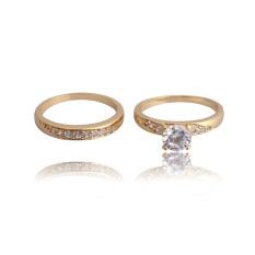 Pasangan Pernikahan Cincin 18 KB Emas Berlapis