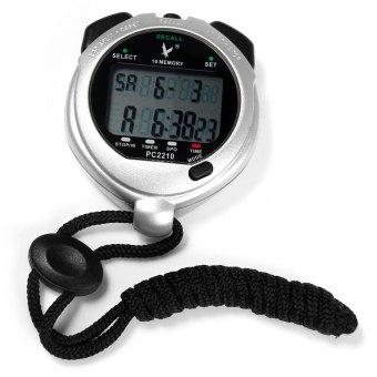 PC2210 berhenti perhiasan pengatur waktu elektronik genggam digital stopwatch olahraga kontra dengan fungsi kalender Alarm (