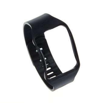 Penggantian tali pengikat pergelangan tangan perhiasan gelang untuk Samsung Galaxy Gear S R750 Hitam