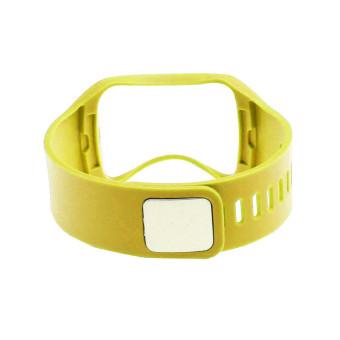 Penggantian tali pengikat pergelangan tangan perhiasan gelang untuk Samsung Galaxy Gear S R750 Kuning