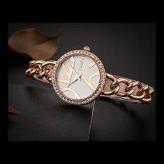 Perfect Genuine YAQIN Yaqin Watch Female Models 7194 Women's Fashion Watch Fashion Bracelet Watch Girls (Gold)